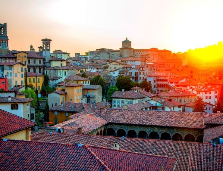 Tour Bergamo Alta al tramonto